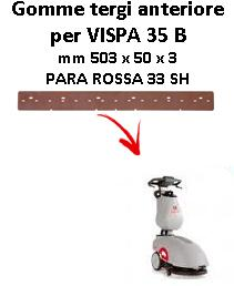 VISPA 35 B Front Squeegee rubber Comac