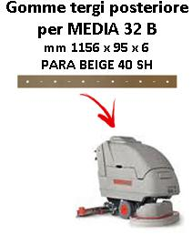 MEDIA 32 B Back Squeegee rubber Comac