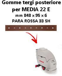 MEDIA 22 E  Back Squeegee rubber Comac