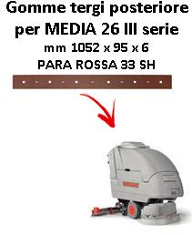MEDIA 26 III serie  Back Squeegee rubber Comac