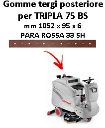 TRIPLA 75 BS Back Squeegee rubber Comac