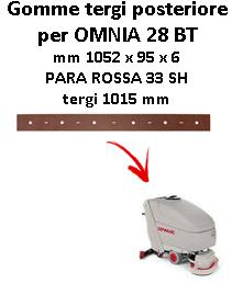 OMNIA 28 BT  Back Squeegee rubber Comac