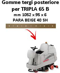 TRIPLA 65 B  Back Squeegee rubber Comac