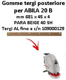ABILA 20 B Back Squeegee rubber Comac