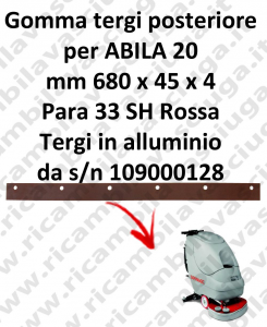 ABILA 20 Back Squeegee rubber for COMAC accessories, reaplacement, spare parts,o scrubber dryer squeegee