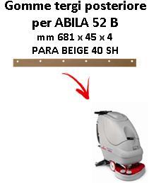 ABILA 52 B Back Squeegee rubber Comac