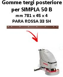 SIMPLA 50 B Back Squeegee rubber Comac