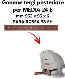 MEDIA 24 E Back Squeegee rubber Comac