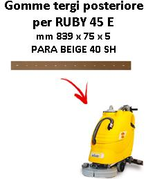 RUBY 45 E  Back Squeegee rubber Adiatek