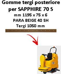 SAPPHIRE 70 S Back Squeegee rubber Adiatek