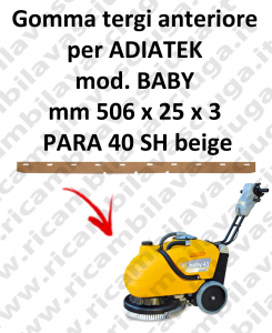 BABY Front Squeegee rubber for squeegee ADIATEK