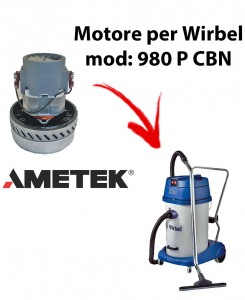 980 P CBN Vacuum motor Amatek for wet and dry vacuum cleaner WIRBEL