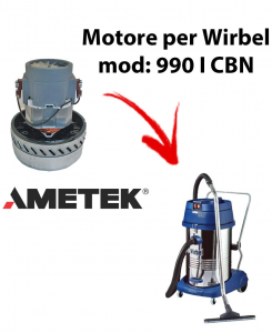 990 IK CBN Vacuum motor Amatek for wet and dry vacuum cleaner WIRBEL