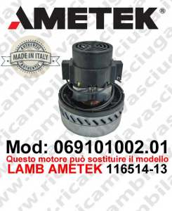Vacuum motor 069101002.01 AMETEK ITALIA for scrubber dryer ,can replace the model LAMB AMETEK 116514-13