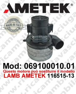 Vacuum motor 069100010.01 AMETEK ITALIA for scrubber dryer ,can replace the model LAMB AMETEK 116515-13