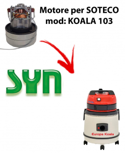 KOALA 103 automatic SYNCLEAN VACUUM MOTOR for vacuum cleaner SOTECO