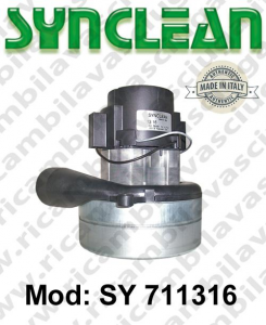 Vacuum motor SY  711316 SYNCLEAN for scrubber dryer and vacuum cleaner