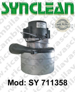 Vacuum motor SY  711358 SYNCLEAN for scrubber dryer and vacuum cleaner