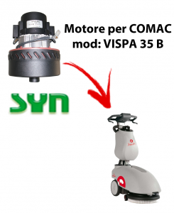 VISPA 35 B Vacuum motor SY N for scrubber dryer Comac