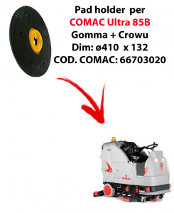 PAD HOLDER for scrubber dryer COMAC Ultra 85B. Code comac: 66703020
