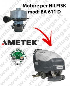 BA 611 D Vacuum motor LAMB AMETEK for scrubber dryer NILFISK