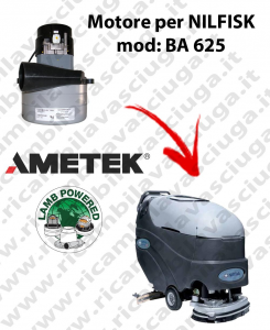BA 625 Vacuum motor LAMB AMETEK for scrubber dryer NILFISK