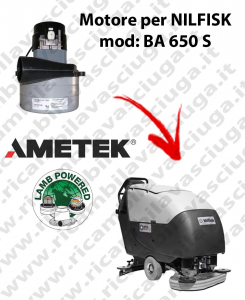 BA 650 S Vacuum motor LAMB AMETEK for scrubber dryer NILFISK