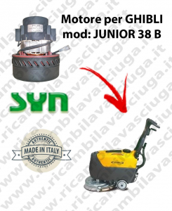 JUNIOR 38 B Vacuum motor SY NCLEAN for scrubber dryer GHIBLI