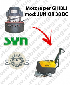 JUNIOR 38 BC Vacuum motor SY NCLEAN for scrubber dryer GHIBLI