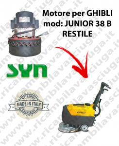 JUNIOR 38 B RESTILE Vacuum motor SY NCLEAN for scrubber dryer GHIBLI