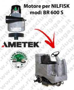 BR 600 S Vacuum motor LAMB AMETEK for scrubber dryer NILFISK