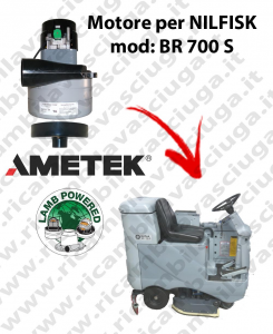 BR 700 S Vacuum motor LAMB AMETEK for scrubber dryer NILFISK