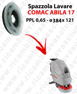 Cleaning Brush for scrubber dryer COMAC ABILA 17. Model: PPL 0,65  ⌀384 X 121