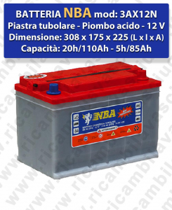 3AX12N Battery piombo - NBA 12V 110Ah 20/h
