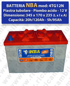 4TG12N Battery piombo - NBA 12V 120Ah 20/h
