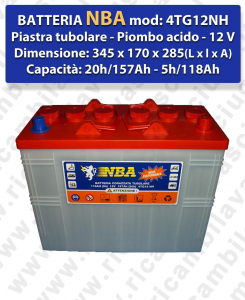 4TG12NH Battery piombo - NBA 12V 120Ah 20/h