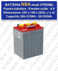 STRONG Battery piombo - NBA 6V 270Ah 20/h