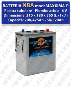 MAXXIMA-PLUS Battery piombo - NBA 6V 425Ah 20/h