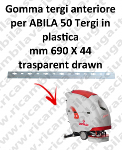 ABILA 50 Front Squeegee rubber for COMAC accessories, reaplacement, spare parts,o scrubber dryer squeegee