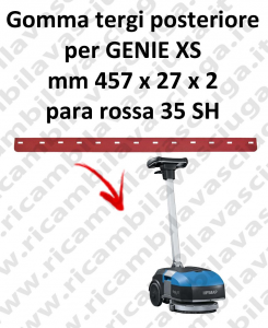 GENIE XS Back Squeegee rubber for FIMAP accessories, reaplacement, spare parts,o scrubber dryer squeegee