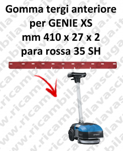 GENIE XS Front Squeegee rubber for FIMAP accessories, reaplacement, spare parts,o scrubber dryer squeegee