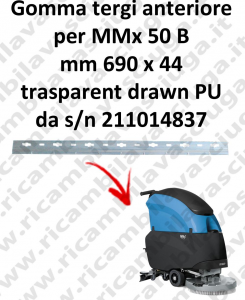 MMx 50 B Front Squeegee rubber for FIMAP accessories, reaplacement, spare parts,o scrubber dryer squeegee