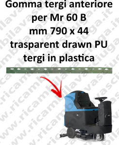 Mr 60 B Front Squeegee rubber for FIMAP accessories, reaplacement, spare parts,o scrubber dryer squeegee