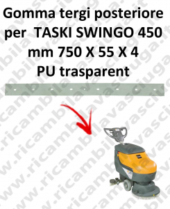 SWINGO 450  Back Squeegee rubber for TASKI accessories, reaplacement, spare parts,o scrubber dryer squeegee