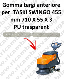 SWINGO 455  Front Squeegee rubber for TASKI accessories, reaplacement, spare parts,o scrubber dryer squeegee