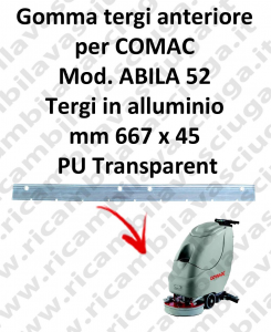 ABILA 52 Front Squeegee rubber for COMAC accessories, reaplacement, spare parts,o scrubber dryer squeegee