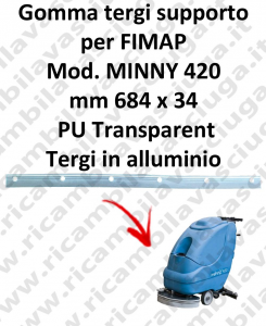 MINNY 420  Support Squeegee rubber for FIMAP accessories, reaplacement, spare parts,o scrubber dryer squeegee