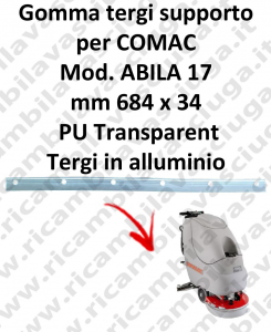 ABILA 17 Support Squeegee rubber for COMAC accessories, reaplacement, spare parts,o scrubber dryer squeegee