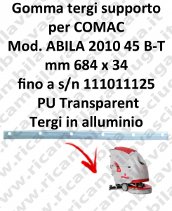 ABILA 45 B - BT till s/n 111011125 Support Squeegee rubber for COMAC accessories, reaplacement, spare parts,o scrubber dryer squeegee