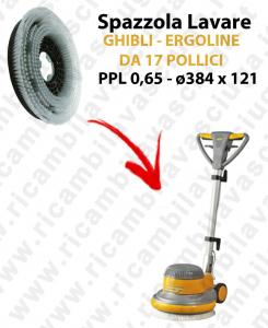 Cleaning Brush  for single disc GHIBLI  ERGOLINE from 17 inch (SB143). Model: PPL 0,65  ⌀384 X 121